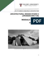 architectural studio 2  arc60205 arc1126  - module outline - august 2016