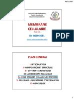 Membrane Cellulaire 2015-16 2nd Partie