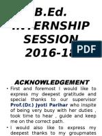 Bed Internship session 2016-18