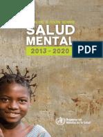 Plan de Salud Mental de la Organización Mundial de la Salud