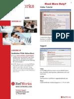 RefWorks Quick Start Guide
