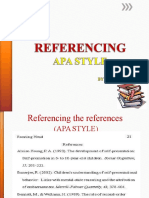 Lecture 13 Referencing Guidelines