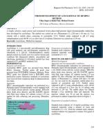 SIMPLE METHOD DEVELOPMENT OF ACECLOFENAC BY RP-HPLC METHOD