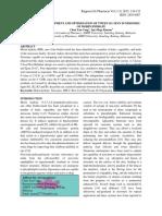 DEVELOPMENT AND OPTIMIZATION OF TWEEN 20 / SPAN 20 NIOSOMES OF MORIN HYDRATE