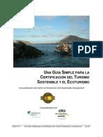 UNA GUÍA SIMPLE PARA LA   CERTIFICACIÓN DEL T URISMO SOSTENIBLE.pdf