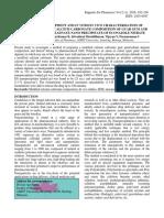 DEVELOPMENT AND IN VITRO/IN VIVO CHARACTERISATION OF MODIFIED CALCIUM CARBONATE COMPOSITION OF GUAR GUM AND SODIUM ALGINATE NANO PRECIPITATE OF ECONAZOLE NITRATE