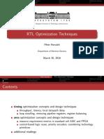 07 RTL Optimization Techniques
