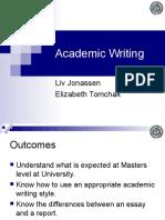Academic Writing by Liv Jonassen