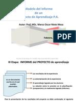 Modelo Del Informe Final de Un Proyecto de Aprendizaje
