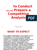 How to Conduct and Prepare a Competitive Analysis 97