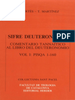 E. CORTES T. MARTINEZ, Sifre Deuteronomio Comentario Tannaitico Al Libro Del Deuteronomio Vol 1