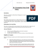 exemption from irish