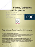 Freedom of Press and Blasphemy