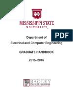 Ece Graduate Handbook 2015