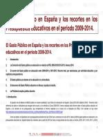 Recortes Educativos 2009-2014