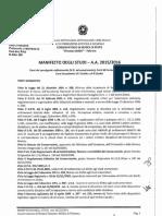 Manifesto Degli Studi 2015-2016