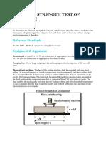 Flexural Strength Test of Concrete