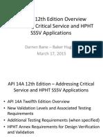 API 14A Update