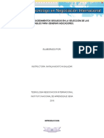 Informe Sobre Los Procedimientos Seguidos en La Seleccion de Las Variables Para Generar Indicadores