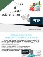 Deducciones del Impuesto Sobre la Renta