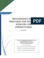 calle mandamientos lesly - monografia apliacion clinica del metilfenidato  1