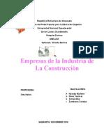 Empresa de La Industria de La Construccion