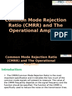Common Mode Rejection Ratio (CMRR) and the Operational Amplifier