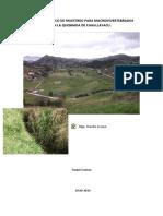 Informe Técnico de Muestreo Para Macroinvertebrados en La Quebrada de Chaullayacu