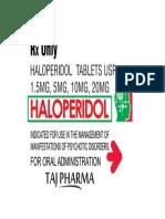 Haloperidol Tablets Taj Pharma - Logo