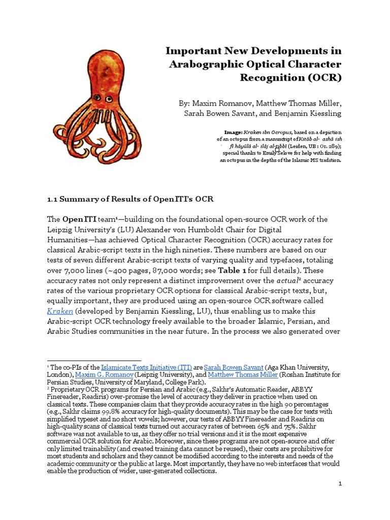 Important_New_Developments_in_Arabograph pdf | Optical