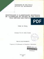 Tese - Godoy - Identificação e classificação geotécnica de latossolos do estado de são paulo pelo método das pastilhas MCT