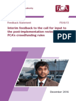 Fs16-13 FCA Interim Report on Crowdfunding