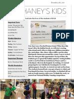 Mr. Haney's Week 16 Newsletter