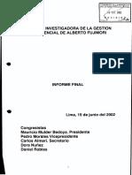 Informe Final sobre la Gestión de Alberto Fujimori (2001)