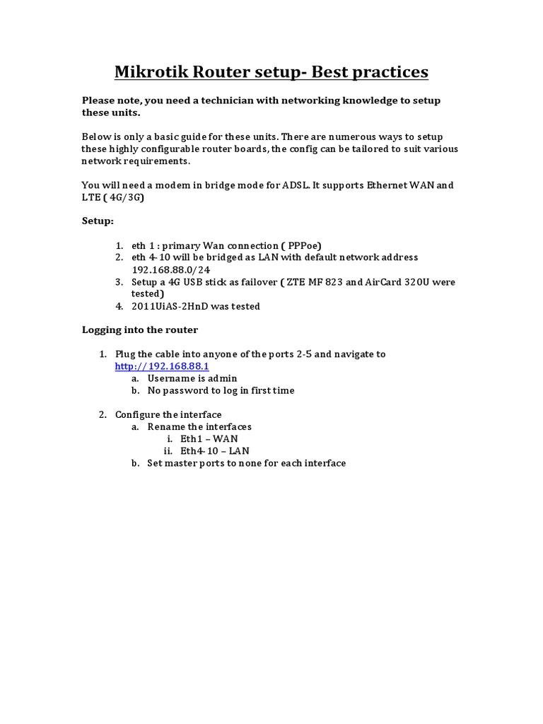 Mikrotik Router Setup | Wide Area Network | Internet Protocols