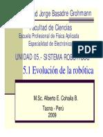 Unidad 05.- Evolución de La Robótica