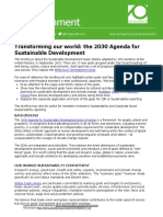 2015 01548 Environment Briefing the 2030 Agenda for Sustainable Development Version 27-11-2015