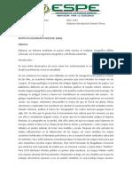 Informe Instituto Geografico Militar