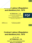 Contract Labour Regulation and Abolition Act 1970