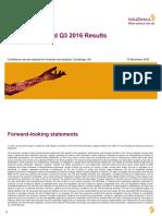 AstraZeneca Year to Date Q3 2016 Result Presentation