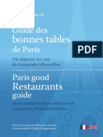 Le Guide Sud de France des bonne table de Paris