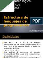 Estructura de Lenguajes de Programación