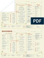Boucherie Menu