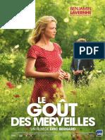 Le Gout Des Merveilles Dossier de Presse Francais