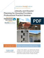 Business Continuity and Disaster Planning Seminar Program