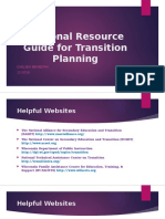 personal resource guide for transition planning