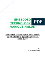 Digital bike operating system sans key by I. Udaya Bhaskar
