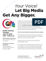 Comcast FCC Hearing in Chicago