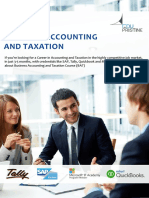Business Accounting and Taxation Brochure