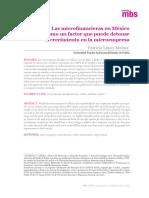 Las Microfinancieras en México Como Un Factor